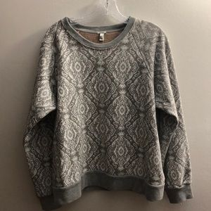 JCrew grey and white sweatshirt New With Tags!